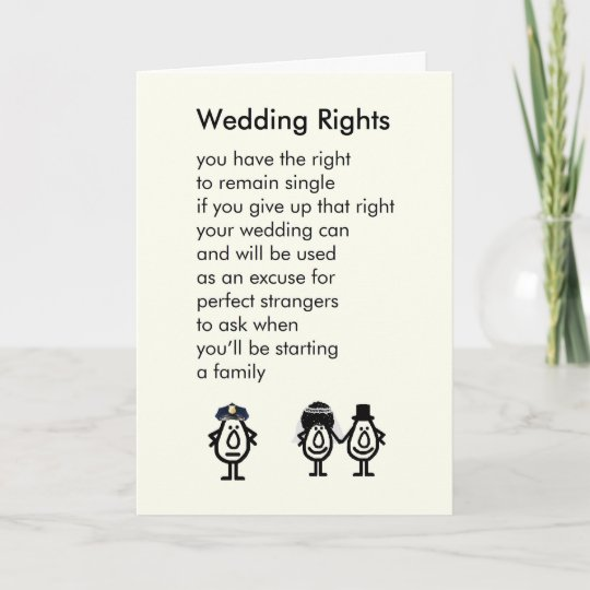 De Rechten Van Het Huwelijk Een Gedicht Van Kaart