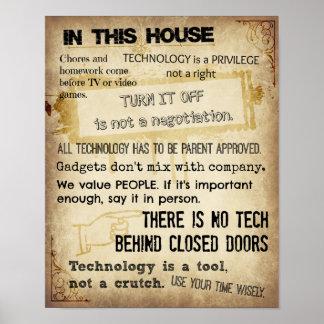 Huis regels poster afdruk print - Scherm huis ...