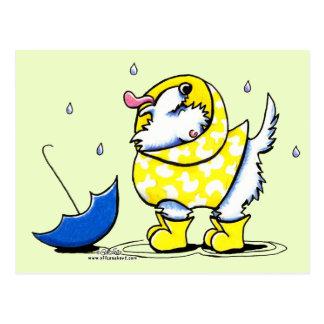 De Regenachtige Dag van Westie Briefkaart