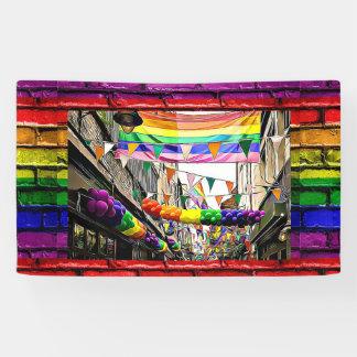 de Regenboog van lgbtqia markeert De Banner van de