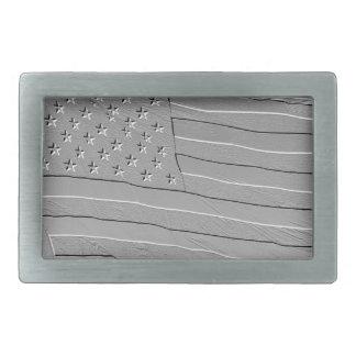 De relief semblant le drapeau américain boucles de ceinture rectangulaires