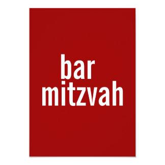 {De Rode} Aankondigingen van Mitzvah van de bar of