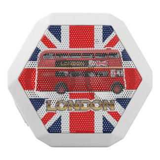 De rode Bus van het Dek van Londen Dubbele Witte Bluetooth Speaker