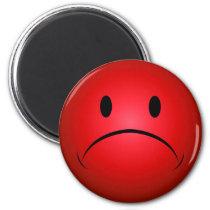 De rode Magneet van het Gezicht Frownie