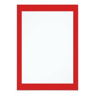 De Rode Stevige Kleur van Firebrick 12,7x17,8 Uitnodiging Kaart