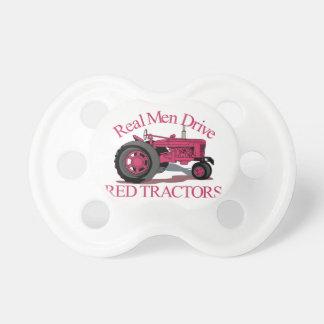 De Rode Tractoren van de aandrijving Fopspenen