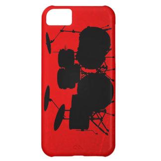 De rode Vector van de Trommel Hoesje Voor iPhone 5C