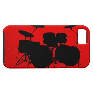 De rode Vector van de Trommel Tough iPhone 5 Hoesje