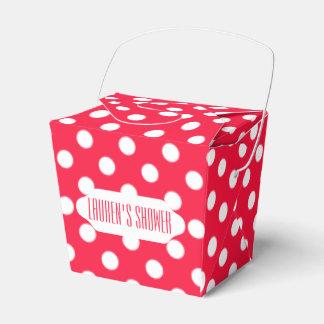 De rode & witte doos van de stippen meeneemgunst bedankdoosjes