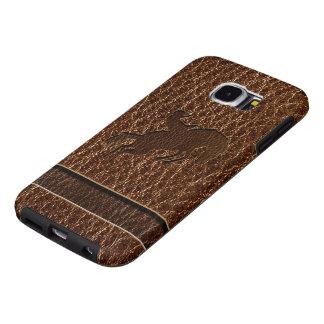 De Rodeo van de leder-blik Samsung Galaxy S6 Hoesje