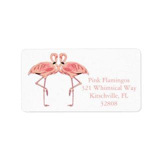 De romantische Roze Etiketten van de Douane van Addressticker