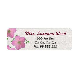 De romantische Roze Witte Structuur van de Paarse Etiket