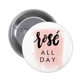 De rosé bouton toute la journée badge rond 5 cm
