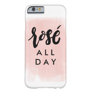 De rosé cas de téléphone toute la journée coque iPhone 6 barely there
