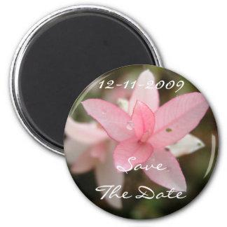 De roze Bloem bewaart de Datum Magneet