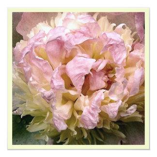 De roze en Gele Uitnodiging van het