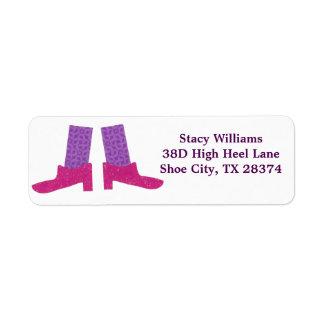 De roze Etiketten van Schoenen Retouretiket
