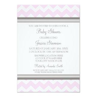 De roze Grijze Uitnodigingen van het Baby shower
