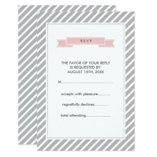 De roze Kaarten van het Huwelijk RSVP van het 8,9x12,7 Uitnodiging Kaart