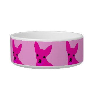 De roze Kom van het Huisdier Chihuahua