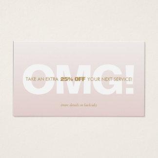 De roze Korting Loyalty Coupon Salon Spa van de Visitekaartjes