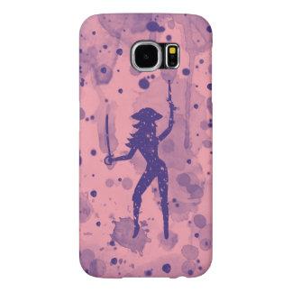 De roze Melkweg van Samsung van de Piraat S6, Samsung Galaxy S6 Hoesje