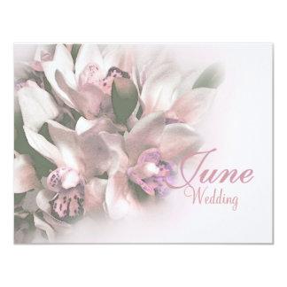de roze orchideeën bewaren datum 3 10,8x13,9 uitnodiging kaart
