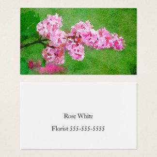 De roze Samenvatting van de Waterverf van de Bloem Visitekaartjes