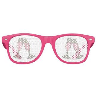 De roze Schaduwen van de Partij van het Huwelijk Retro Zonnebril