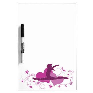 De roze Sprong van de Gymnastiek van het Hart Whiteboard