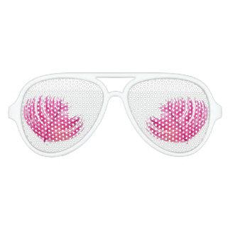 De roze Volwassen Witte Schaduwen van de Partij Aviator Zonnebril