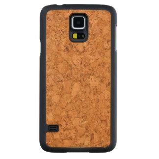 De ruige Natuurlijke Cork Houten Korrel ziet eruit Esdoorn Galaxy S5 Slim Case