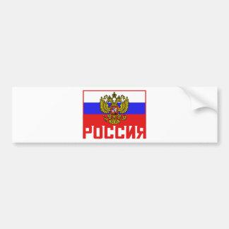 De Russische Vlag van Poccnr Bumpersticker