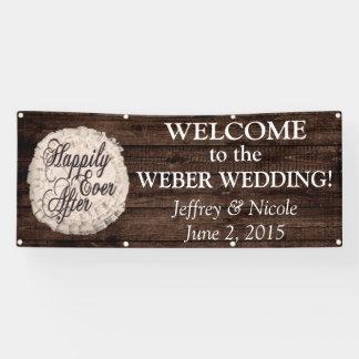 De rustieke Banner van het Huwelijk van de Foto