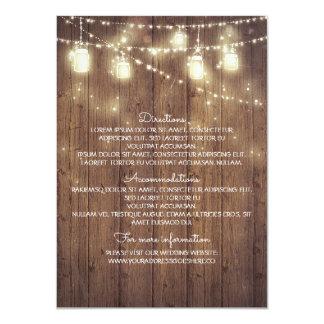 De rustieke Details van het Huwelijk van het Land 11,4x15,9 Uitnodiging Kaart
