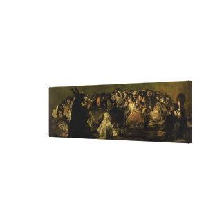 De Sabbat van de Heksen Canvas Afdruk