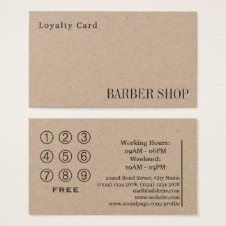 De salon van de de kaartwinkel van de loyaliteit visitekaartjes