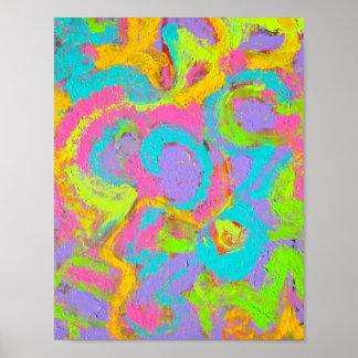 De Samenvatting van het neon - Abstracte Met de Poster