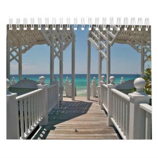 De Scènes van het strand van Mooie Kust, Florida Kalender