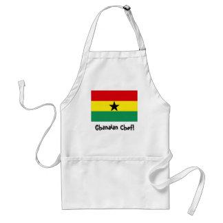 De schort van de de vlagchef-kok van Ghana