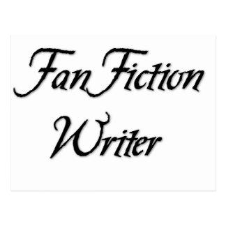 De Schrijver van de Fictie van de ventilator Wenskaart