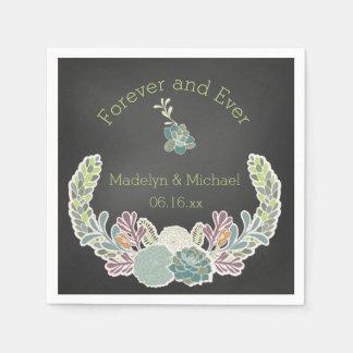 De Servetten van het Document van het Huwelijk van Papieren Servet