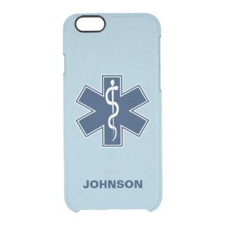De Sjabloon van de Naam van de paramedicus EMT EMS Doorzichtig iPhone 6/6S Hoesje