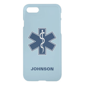 De Sjabloon van de Naam van de paramedicus EMT EMS iPhone 8/7 Hoesje