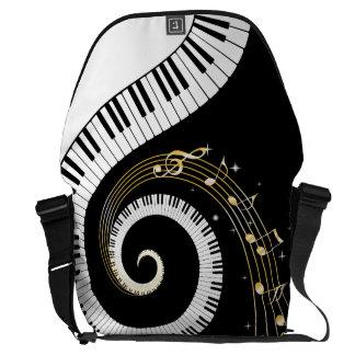 De Sleutels en de Muzieknoten van de Piano van het Courier Bag