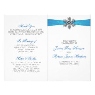 De Sneeuwvlok van Diamante & het Blauwe Huwelijk Flyer