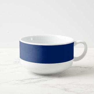 De soupe de tasse bleu uni