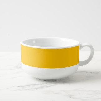 De soupe de tasse jaune uni