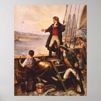 De Spangled Banner van de Ster door Percy Moran Poster