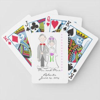 De Speelkaarten van het Huwelijk van de bruid en v Pak Kaarten